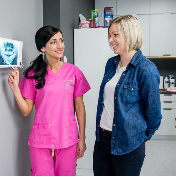 przeswietlenie rtg zębów pacjentki